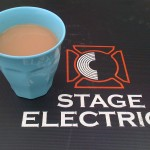 Backstage tea at Towersey festival
