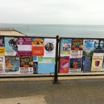 Our poster at Ventnor Beach!
